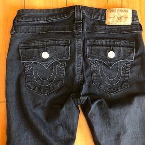 True religion selection black skinny jeans